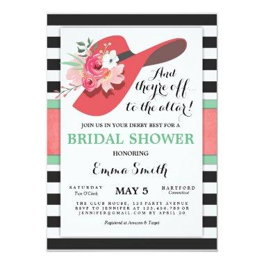 Derby Bridal Shower Invitations Wear a Hat Horse