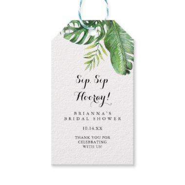 Destination Tropical Sip Sip Hooray Bridal Shower Gift Tags