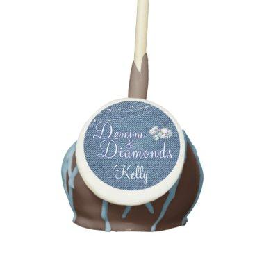 Diamonds and Denim Party Cake Pops