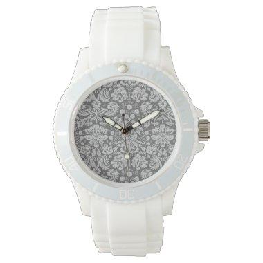 Dim Gray Damask Watch