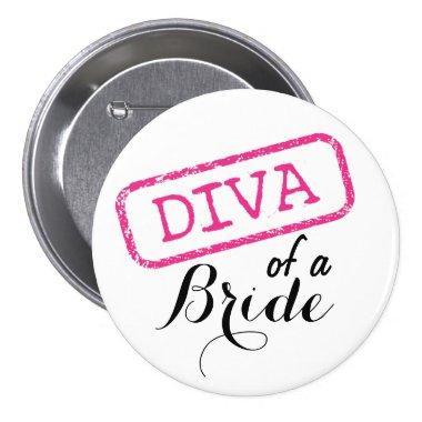 """""""DIVA"""" of a Bride Button"""