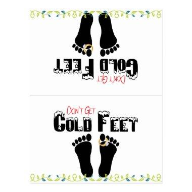 Don't Get Cold Feet Funny Socks Post