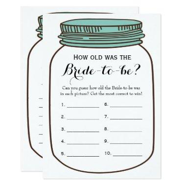 Double Side - Bridal Shower Games How Old | Advice Invitations