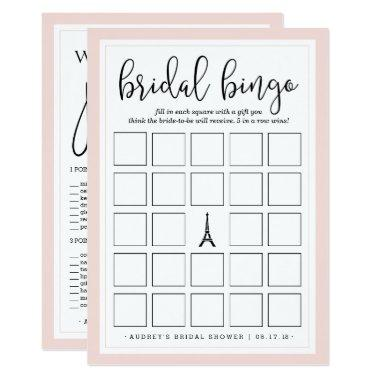 Double-Sided Bridal Shower Bingo and Purse Game Invitations