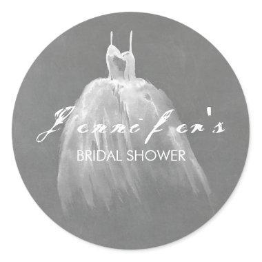 Dreamy Wedding Dress  Classic Round Sticker