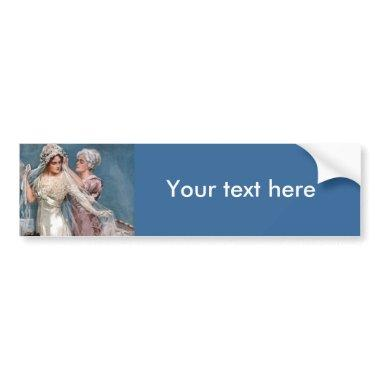 Dressing the Bride Bumper Sticker