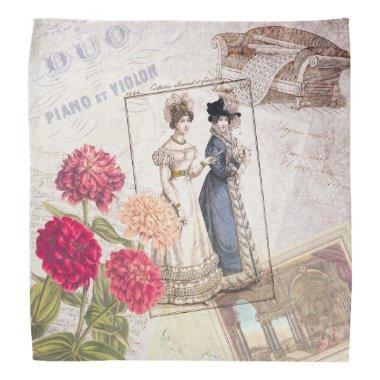 Duo for Piano - Beautiful Ladies Vintage Fashions Bandana
