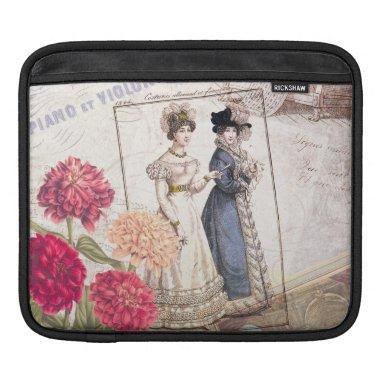 Duo for Piano - Beautiful Ladies Vintage Fashions iPad Sleeve