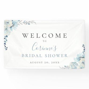Dusty Blue Floral Banner