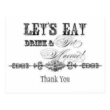 Eat, Drink n Get Married, Thank You Note Post