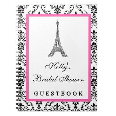 Eiffel Tower Pink Paris Custom Guest Book