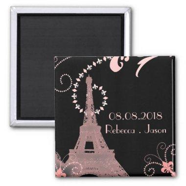 eiffel tower vintage paris save the date magnet
