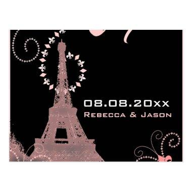 eiffel tower vintage paris save the date post