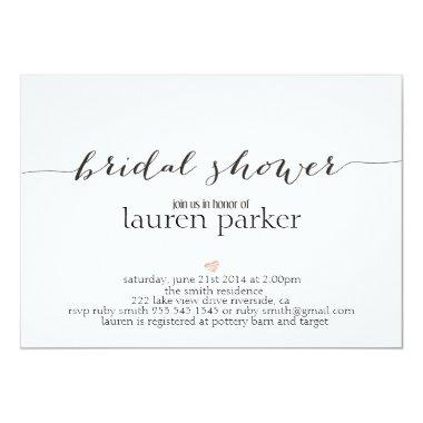 Elegant and Simple Bridal Shower Invitations