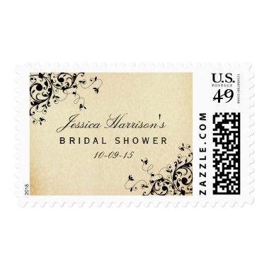 Elegant Antique Swirls Bridal Shower Postage