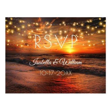 Elegant Beach Summer Wedding RSVP PostInvitations