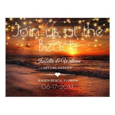 Elegant Beach Summer Wedding Save the Date PostInvitations
