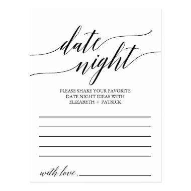 Elegant Black Calligraphy Date Night Idea