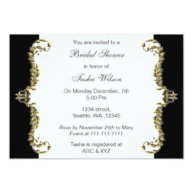 Elegant black gold  Invites