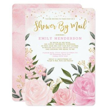 Elegant Bridal Shower By Mail Blush Pink Floral Invitations