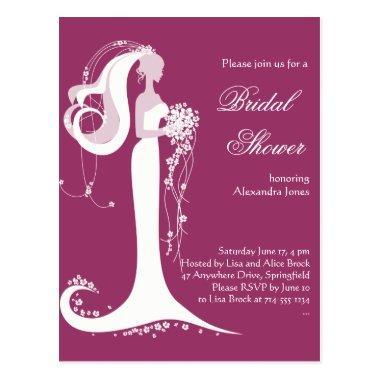 Elegant Bride  Party Invitation 3 Post