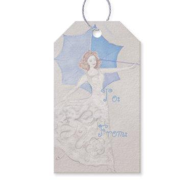 Elegant Bride Shower Gift Tag