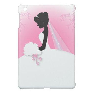 Elegant bride silhouette Bridal Shower iPad Mini Cover