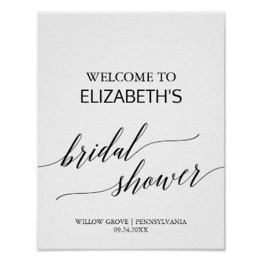 Elegant Calligraphy  Welcome Poster