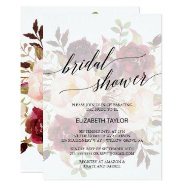 Elegant Calligraphy | Faded Floral