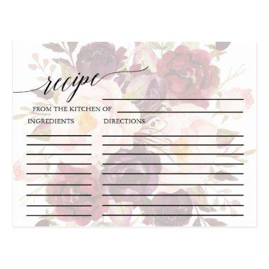 Elegant Calligraphy | Faded Floral Recipe