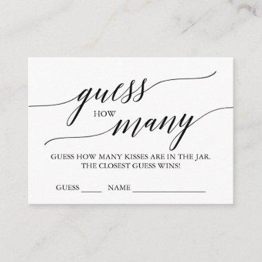 Elegant Calligraphy Guess How Many Kisses Invitations