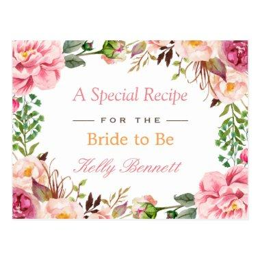 Elegant Chic Pink Floral  Recipe Post