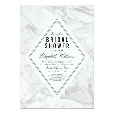 Elegant Chic White Marble  Invite