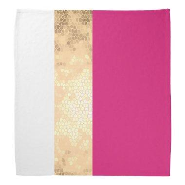 elegant clear faux gold pink white stripes bandana