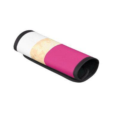 elegant clear faux gold pink white stripes handle wrap