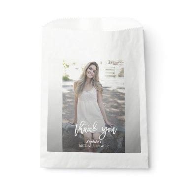Elegant Custom Photo Bridal Shower Favor Bag
