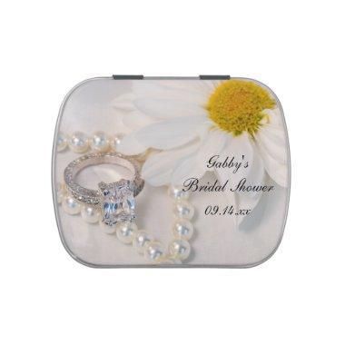 Elegant Daisy  Favor Jelly Belly Tin