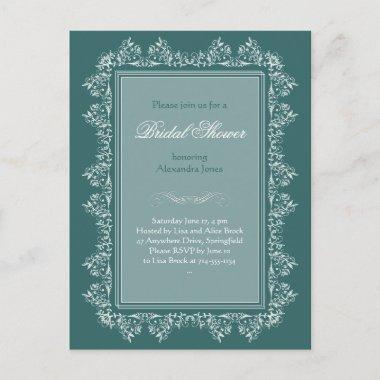 Elegant Filigree Bridal Shower Party Invitations