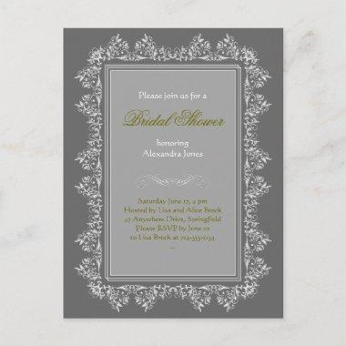 Elegant Filigree Bridal Shower Party Invitations 8