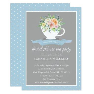 Elegant Floral Teacup  Tea Party