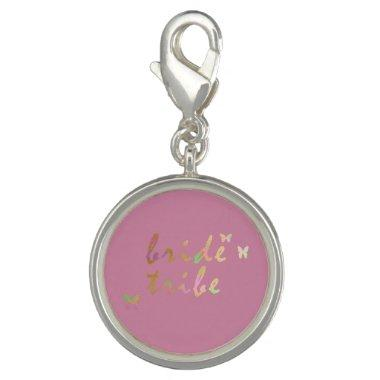 elegant gold and rose gold Bride Tribe Charm