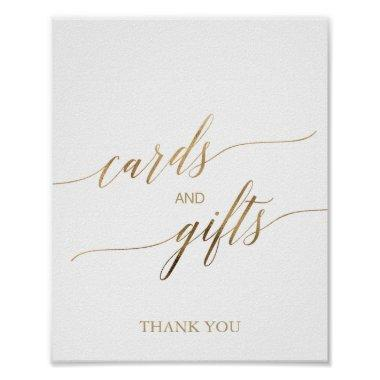 Elegant Gold Calligraphy Invitations and Gifts Sign