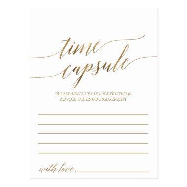 Elegant Gold Calligraphy Time Capsule