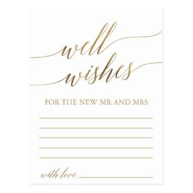 Elegant Gold Calligraphy Well Wishes Invitations