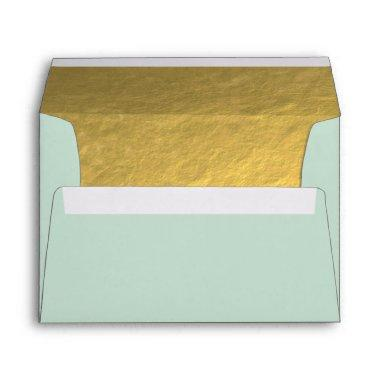 Elegant Gold Foil effect lined Envelope