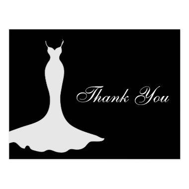 Elegant Gown Bridal Shower Thank You PostInvitations
