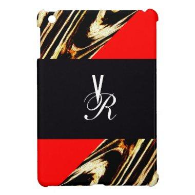 Elegant Letter Initial Monogram Chevron Zigzag Cover For The iPad Mini