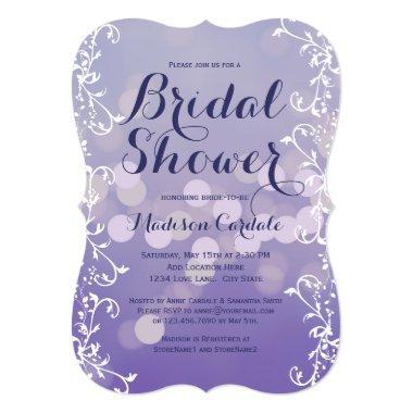 Elegant Lilac Purple Bridal Shower Invitations