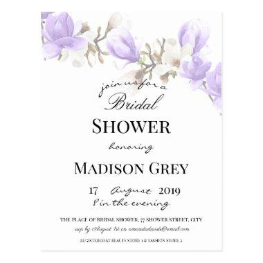 Elegant Magnolia Blossom Bridal Shower Invitation PostInvitations