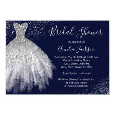 Elegant Navy Wedding Gown